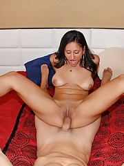 Hot horny sexy latina nailed hard against the couch