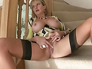 Busty british hot wife masturbating