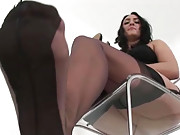 Ass teasing british nylons milf