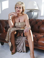 Girdle and nylons classy hot mature