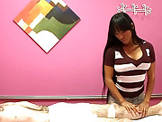 Fucking huge tits asian babe nailed hard in the massage parlor hot voyeur spy massage sex video