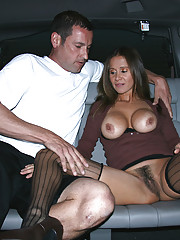 HotWifeRio takes off her panties then sucks off one of her members in her car
