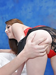 Cute 18 year old massage therapist Gia Love gives a little more than a massage!
