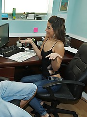 Latin brunet hot girl gets banged on table sexy body big ass