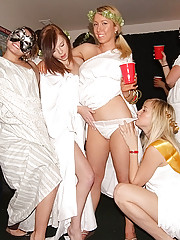Check out this real college toga sex party