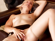 Petite older lady pleasures her pussy exclusively at Anilos