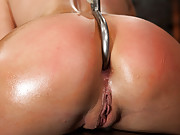 Smoking hot blond with huge tits, a perfect bubble butt, has nipples tortured, skull brutally fucked, ass hooked & made to cum over & over, no mercy!