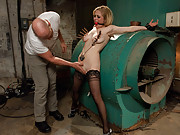Peeping tom gets revenge on busty house wife with hardcore BDSM sex!!