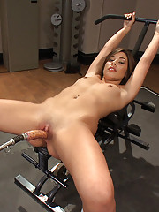 18year old toned babe fucks the machines for long multiple orgasms that go on for so long we check to see if she has a pussy at the end of the day.