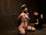 Cherry torn gets her skull fucked, blindfolded, and abused.