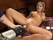 Blond BIG titted babe fucked to a damp, pussy soaked, cummed out mess.