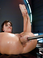 Double Anal, big pussy fucking and long orgasms from fast pounding - Alysa shows the machines how to be her bitch!