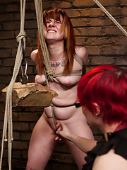 Lesbian slave training for the first time ever! The sadistic Claire Adams thins the heard to find our next candidate for the slave training.