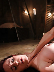 Devastatingly hot lezdom with big tits whips and fist fucks cute slavegirl into submission.