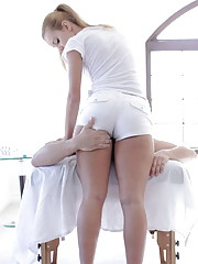 Hot white girl smooth massage