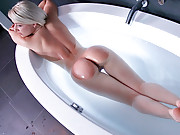 Smoking hot white blond giant ass get banged by black dude in the hot tub this bade has big tits