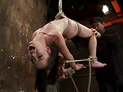 Sexy tiny, flexible girl next door Jessi Palmer is 1 of Porns hottest names. Bound in a back breaking suspension, skull fucked, made 2 cum over & over