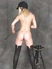 Kinky thigh boots fetish equestrian