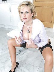 Heels and nylons perfect ass milf
