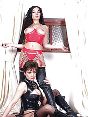British kinky latex fetish milfs