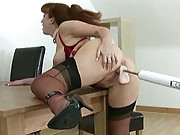 Sex machine and a lingerie mature
