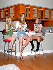 3 hot long leg hot ass mini skirt babes share their milf pussies in these hot licking pussy fucking pics
