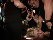 Chastity Lynn gets fucked senseless in a public bar by Nacho Vidal! Treated like a piece of meat, wrapped up, and left for strangers to fuck!