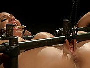 Kelly gets beat, stretched, pounded in her ass until her rosebud shows, and made to squirt all over herself. She begs for mercy, but doesn
