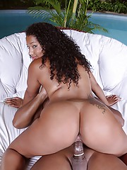 Horny curly hair brunette fucked hard in her brazilian ass sex pics