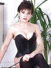Leather corset milf mistress sonia