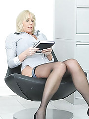Mature secretary stunner jan burton