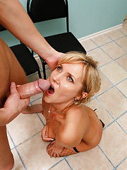 Anilos Zlata gets anal banged and rewarded with a jizz facial