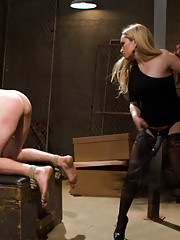 After a steamy date with a new fling, Aiden is ready to get down. Little does her new beau know she has her cuck in the basement begging to be used.