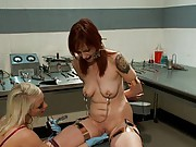 All natural redhead finds herself in an electrifying predicament where, tough yet beautiful, Lorelei Lee teaches her the proper usage of the TENS unit