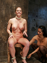 Part 1/4 of Decembers live show with Holly heart:  A back arching, pussy destroying tie from hell.  Holly suffers and cums, the bondage is brutal.