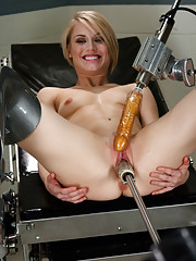 Bonus Update: 22yr old Blond gymnast flexes hard as the machine rip orgasms out of her tight pussy in the double update Friday edition.