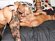 Two smoking hot blond giant ass orel sex scene with stokings on