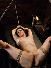 Submissive girl endures pain and bondage while ass fucked!