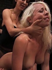 Lorelei Lee gets fucked by a gang of horny sluts, tied up, and tormented with electricity