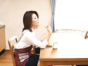 Mio Fujiki Asian licks her fingers with such erotic gestures
