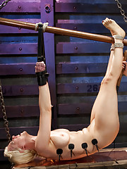 Cherry Torn gives up her limits of electricity to the hands of Bobbi Starr and her own twist of electro sex and lesbian BDSM.