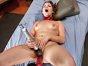 Randy 18 yr old Texan out fucks the machines with her gaping, cock swallowing pussy that she stretches to the absolute limit with machine cock!