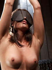 First timer is pushed to her limits. Her pussy held by chain, zip tied & caned, her pussy fucked and vibed. Sarge man handles the orgasms out of her.