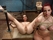 Two submissive sluts in anal BDSM sex and predicament bondage!