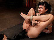 Beretta is aggressively skull fucked by Matt in this amazing update. Ankles tied to her neck, all of her holes are violated, fucked, and vibrated!