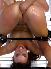 Hot lesbian domination with sexy lezdom and a cute all natural beauty with extreme gaping anal sex, anal fisting and speculum.