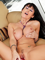 Anilos babe gives her fav toy a blowjob before titty fucking herself