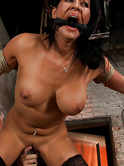 Isis Love gets bound, gagged, flogged, and fucked to multiple orgasms.  Made to squirt, cum, moan and beg.  Her first & last submissive role in years!