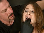 Four girls enter and only one remains after testing them on basic protocol, pain endurance, and orgasm control.