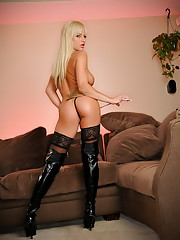 Brooke Belle her big boobs and her hot stockings